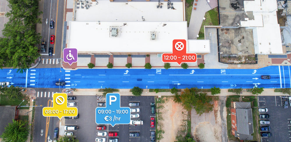 On-street and Off-street parking availability