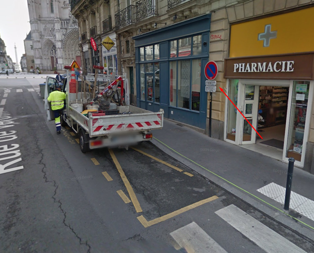 Nantes loading zone