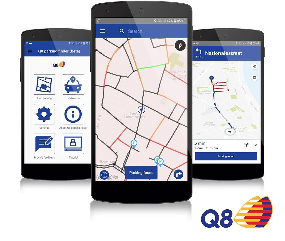 Q8 Parking Finder App