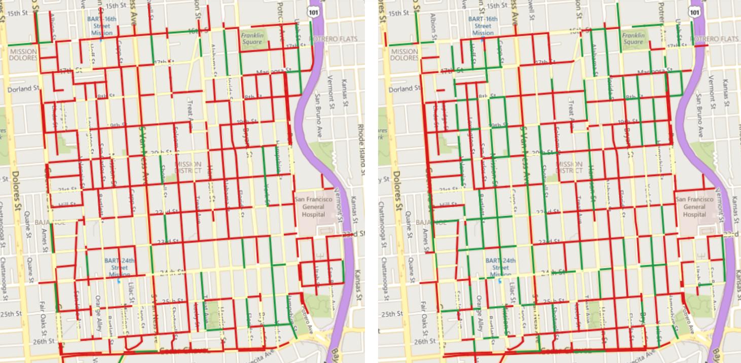San Francisco parking heat map