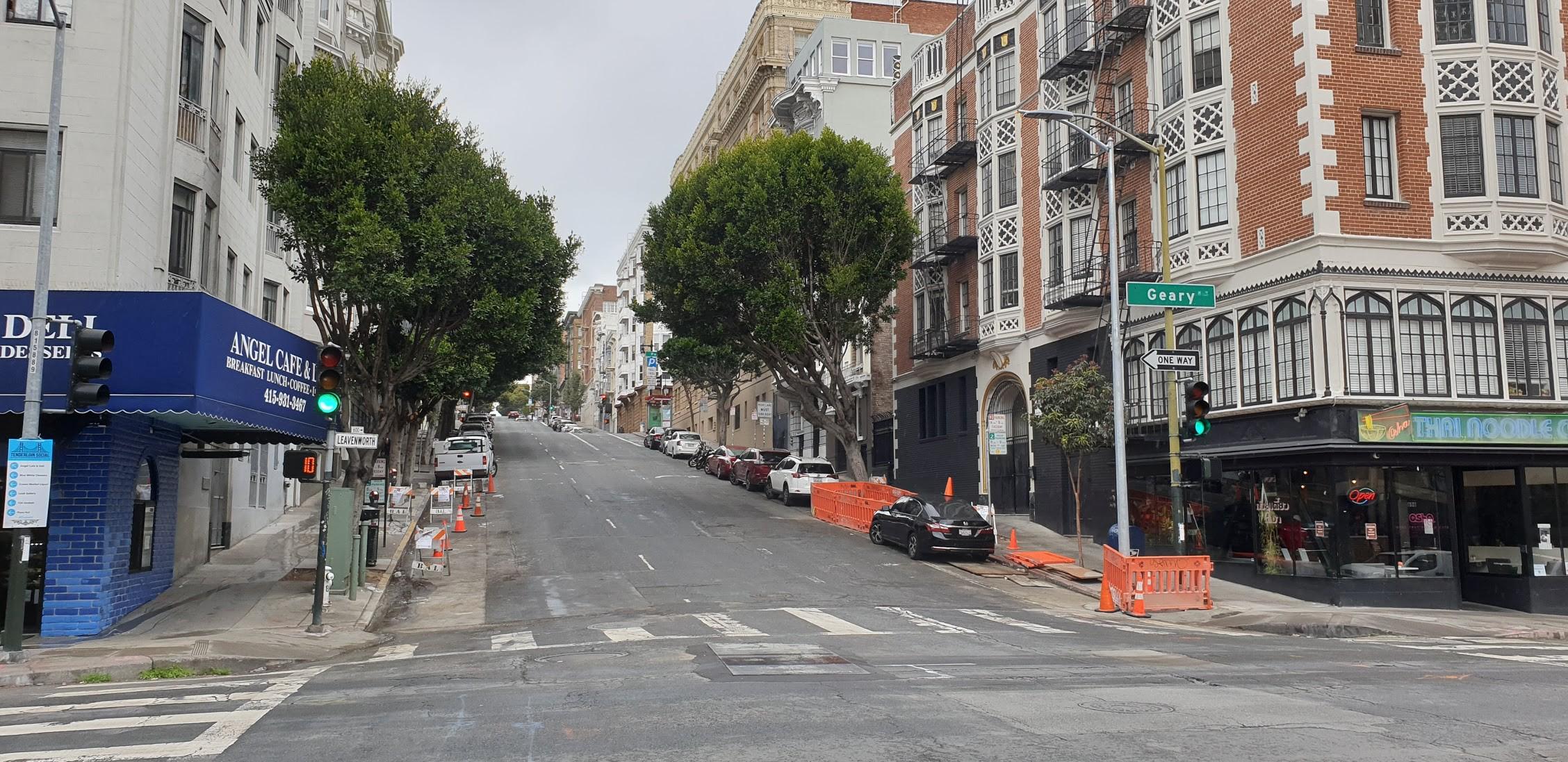 San Francisco empty street